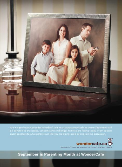 Wondercafe Parenting advertisement