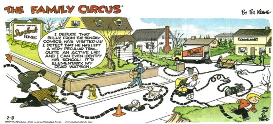 Family Circus Cartoon