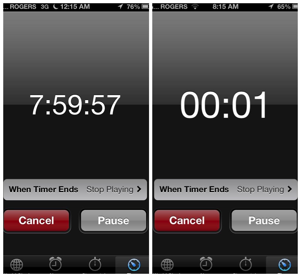 Iphone 8 countdown clock